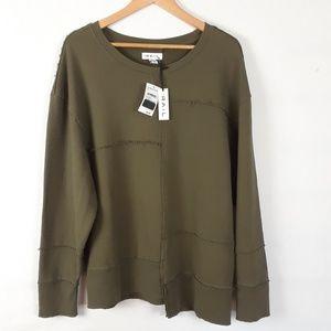 The Rail Nordstrom Army Green Sweatshirt Size M